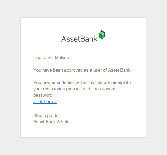 Improved Email Templates With Logo Option Asset Bank Help Centre - Registration email template html