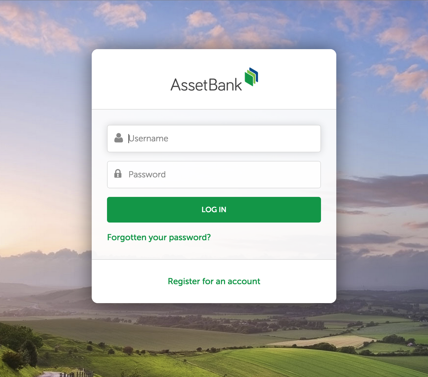 updated login registration and share as link pages asset bank